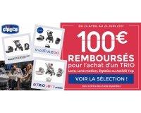 Allobébé: 100€ rembourses pour l'achat d'un trio Chicco