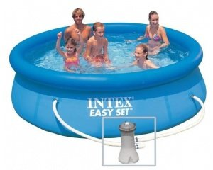 Piscine ronde hors sol autostable intex easy x m for Aspirateur piscine hors sol intex cdiscount