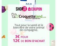 Showroomprive: Payez 3€ le bon d'achat Croquetteland d'une valeur de 12€