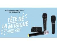 Woodbrass: Un micro offert pour toute commande dès 99€ d'achat avec la fête de la musique