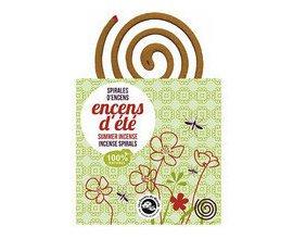 Claire Nature: 10 spirales Encens d'été anti-moustiques à 6,23€ au lieu de 8,90€