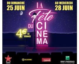 Gaumont Pathé: Place de ciné à 4€ pendant la fête du Cinéma 2017 du 25 au 28 juin