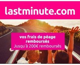 Lastminute: Jusqu'à 200€ remboursés sur vos frais de péage sur une sélection de séjours