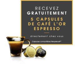 L'Or Espresso: Recevez gratuitement 5 capsules de café l'OR Espresso