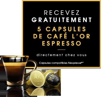 Code promo L'Or Espresso : Recevez gratuitement 5 capsules de café l'OR Espresso