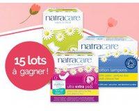 Féminin Bio: 15 lots de 3 produits Natracare à gagner