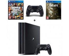 Cdiscount: PS4 Pro Noire 1 To + 2e Manette + GTA V + Fallout 4 à 399,99€