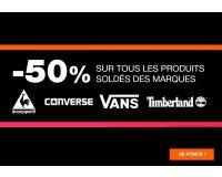 Courir: - 50% sur les produits soldés Converse, Vans, Timberland et le Coq Sportif
