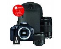 TopAchat: APN Canon 1300D + 2 objectifs (18-55 & 75-300mm) + sacoche + SD 8 Go à 524,90€