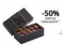 Interflora: 1 bouquet de fleurs acheté = -50% sur la boite de chocolat en plus