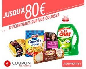 Coupon Network: Jusqu'à 80€ d'économies sur vos courses et marques préférées en magasin