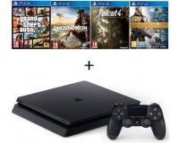 Cdiscount: PS4 Slim 500Go + GTA V + Destiny + Ghost Recon + Fallout 4 à 299,99€