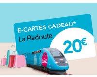 Voyages SNCF: Réservez un billet OUIGO & tentez de gagner 20€ en E-Carte Cadeau LA REDOUTE