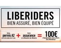 Mutuelle des Motards: [Permis A2 et A -2 ans] 1 contrat d'assurance moto = 100€ offerts chez Motoblouz