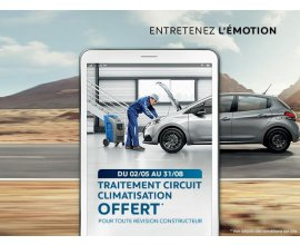 Peugeot: 1 révision constructeur PEUGEOT = l'entretien du système de climatisation offert