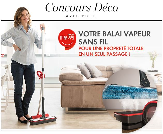 23 balais vapeur sans fil moppy rouge de la marque polti. Black Bedroom Furniture Sets. Home Design Ideas