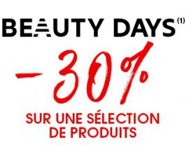 Sephora: 30% de réduction sur une sélection de produits pendant les Beauty Days