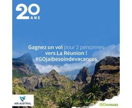 Go Voyages: 1 vol pour 2 personnes vers La Réunion en partageant une photo sur Instagram