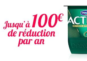 Code promo Danone : Jusqu'à 100€ de réduction par an grâce aux coupons à imprimer Danone