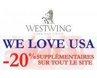 Westwing: -20% supplémentaires sur toutes les ventes