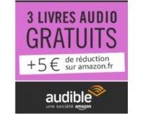 Amazon: 3 livres audio + 5€ offerts en souscrivant à l'offre d'essai gratuite Audible