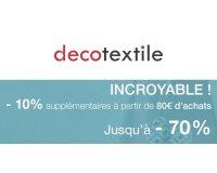 decotextile: 10% de réduction supplémentaire sur votre panier à partir de 80€ d'achat