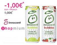 Shopmium: 1€ remboursé via l'appli sur les canettes Innocent bubbles