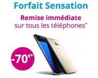 Bouygues Telecom: - 70€ sur tous les smartphones en souscrivant un Forfait Sensation 50Go 24 mois