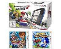 Cdiscount: Nintendo 2DS + Mario Kart 7 + Inazuma Eleven 3 + Sonic Lost World à 99,99€
