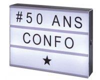 Conforama: Panneau lumineux personnalisable LIGHTBOX à 7,98€ au lieu de 15,85€