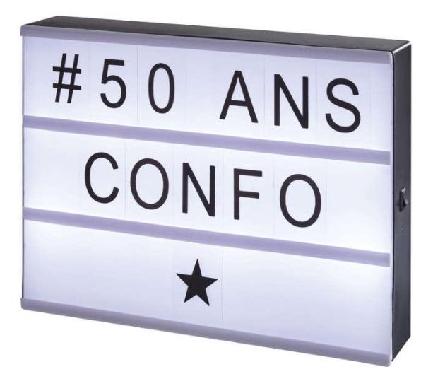 panneau lumineux personnalisable lightbox 7 98 au lieu de 15 85 conforama. Black Bedroom Furniture Sets. Home Design Ideas
