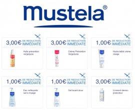 Mustela: De 1€ à 3€ offerts en bons de réduction à imprimer sur de nombreux soins Mustela