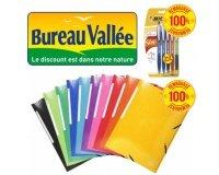 Bureau Vallée: 13 fournitures scolaires 100% remboursées par virement