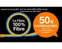 Orange: [Anciens clients] 50€ remboursés pour la souscription à une offre fibre Orange