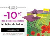 Truffaut: 10% de remise pour l'achat d'au moins deux chaises de balcon achetées