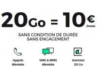 Showroomprive: Forfait mobile tout illimité RED 20Go à 10€/mois sans engagement