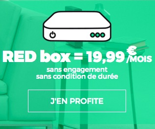 Code promo SFR : Abonnement internet RED Fibre par SFR à 19,99€ / mois sans condition de durée