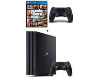 Cdiscount: Console PS4 Pro Noire 1 To + 2e Manette + GTA V à 399,99€