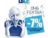 LDLC: 7% de remise supplémentaire sur l'article le plus cher de votre panier