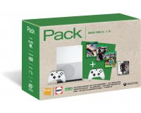 Darty: Xbox One S 1To + 2e manette + 2 jeux & 1 Blu-ray Blu-Ray Assassin's Creed à 299€