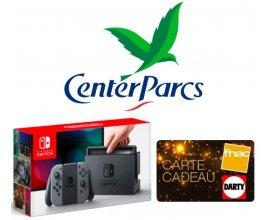 La Banque Postale: 1 weekend à Center Parcs, 1 Nintendo Switch & 1000€ de bons d'achat Fnac