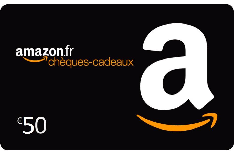 Code promo Amazon : Recevez 10€ pour l'achat d'un chèque cadeau d'une valeur de 50€
