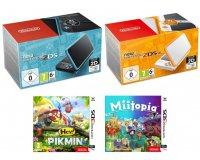 Auchan: New Nintendo 2DS XL + le jeu Hey ! Pikmin 3DS ou Miitopia à 159,99€