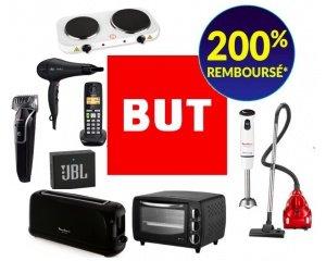 BUT: 85 produits jusqu'à 200% remboursés en 3 bons d'achat valable sans minimum