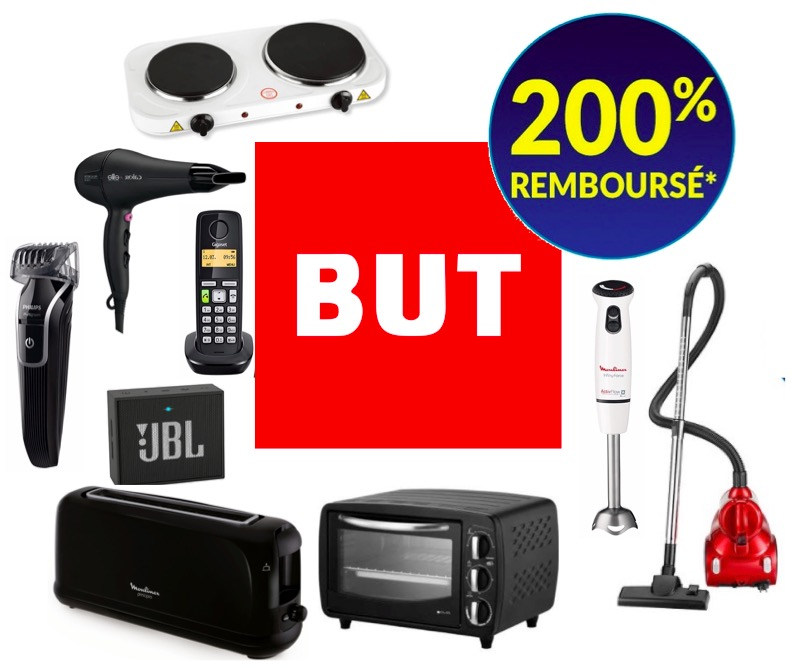 Code promo BUT : 85 produits jusqu'à 200% remboursés en 3 bons d'achat valable sans minimum