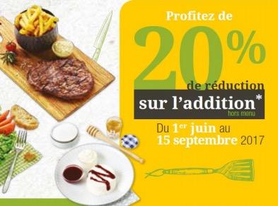 Code promo Courtepaille : 20% de remise sur l'addition pour les titulaires de la carte Ticket Restaurant