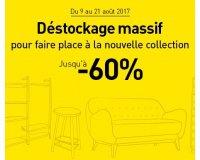 Habitat: Déstockage massif sur de nombreux meubles jusqu'à -60%