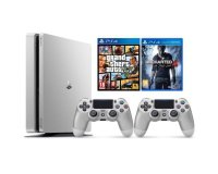 Cdiscount: PS4 Silver 500Go + 1 manette + GTA 5 + Uncharted 4 à 349,99€ au lieu de 436,30€