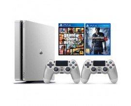 Cdiscount: PS4 Silver 500Go + 1 manette + GTA 5 + Uncharted 4 à 349,99€ au lieu de 436,30€