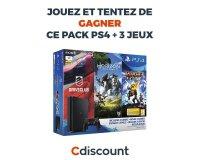 Cdiscount: 1 pack PS4 et 3 jeux à gagner